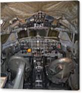 De Havilland Dh106 Comet 4 G Apdb Cockpit Full Size Poster Canvas Print