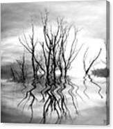 Dead Trees Bw Canvas Print