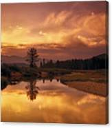 Deadwood River Sunrise Canvas Print