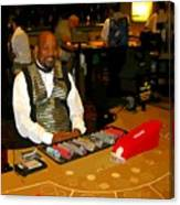 Dealer In Las Vegas Casino Canvas Print