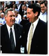 Dean Smith And Mike Krzyzewski Canvas Print