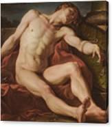 Death Of A Gladiator Canvas Print