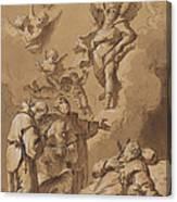 Death Of A Holy Friar Canvas Print