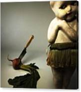 Death Of A Vegetable Canvas Print