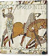 Death Of Harold, Bayeux Tapestry Canvas Print