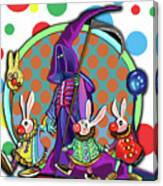 Death Takes His Bunny Friends To The Circus Canvas Print