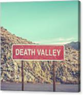Death Valley Sign Canvas Print
