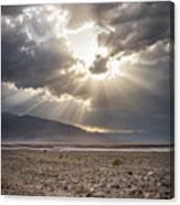 Death Valley Sun Burst Canvas Print