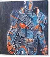 Deathstroke Illustration Art Canvas Print