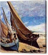 Deauville Beach 1866 Canvas Print