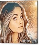 Debby Ryan Golden Beauty Canvas Print