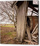 Debris In An Old Barn Canvas Print