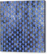 Decadent Urban Blue Patterned Abstract Design Canvas Print