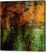 Decadent Urban Brick Green Orange Grunge Abstract Canvas Print