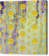 Decadent Urban Bright Yellow Patterned Purple Abstract Design Canvas Print