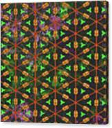 Decadent Urban Orange Green Patterned Abstract Design Canvas Print