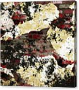 Decadent Urban Red Bricks Painted Grunge Abstract Canvas Print