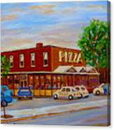 Decarie  Tasty  Food  Pizza Canvas Print