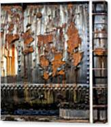 Decaying Railroad Car Canvas Print