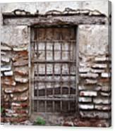Decaying Wall And Window Antigua Guatemala 3 Canvas Print