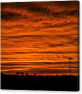 December Nebraska Sunset 002 Canvas Print