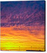 December Nebraska Sunset 003 Canvas Print