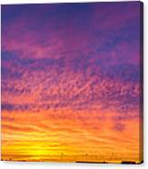 December Nebraska Sunset 004 Canvas Print