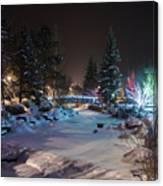 December On The Riverwalk Canvas Print