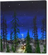 Decembers Star Canvas Print