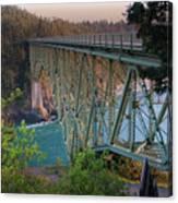 Deception Pass Bridge Br-8943 Canvas Print