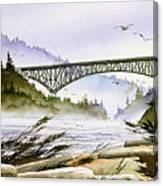 Deception Pass Bridge Canvas Print
