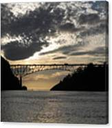 Deception Pass Bridge Sunset Two Canvas Print