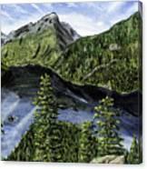 Deception Pass Painting Canvas Print
