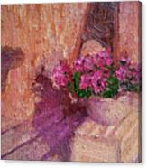 Deck Flowers #2 Canvas Print