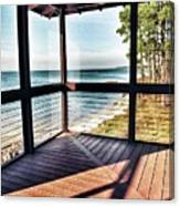 Deck With Ocean View Canvas Print