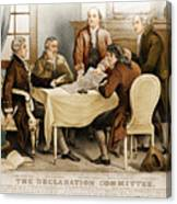 Declaration Committee 1776 Canvas Print