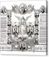 Declaration Of Independence 1884 Poster Restored Canvas Print