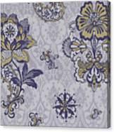 Deco Flower Blue Canvas Print