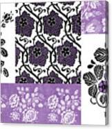 Deco Flower Patchwork 3 Canvas Print