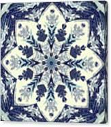 Deconstructed Sea Mandala Canvas Print