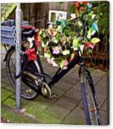 Decorated Bicycle. Amsterdam. Netherlands. Europe Canvas Print