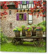 Half-timbered House, Riquewihr, Alsace,france  Canvas Print