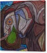 Decorated Elefant Canvas Print