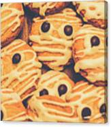Decorated Shortbread Mummy Cookies Canvas Print