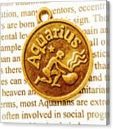 Decorative Aquarius Canvas Print