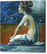 Decorative Blue Nymph Canvas Print