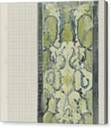 Decorative Design In Green And Blue, Carel Adolph Lion Cachet, 1874 - 1945 Canvas Print