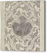 Decorative Design With Leaf Motif, Carel Adolph Lion Cachet, 1874 - 1945 Canvas Print