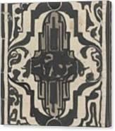 Decorative Design With Two Stylized Lions, Carel Adolph Lion Cachet, 1874 - 1945 Canvas Print