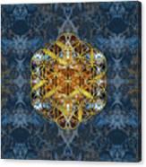 Decorative Gemstone Sacred Geometry Flower Of Life   Canvas Print